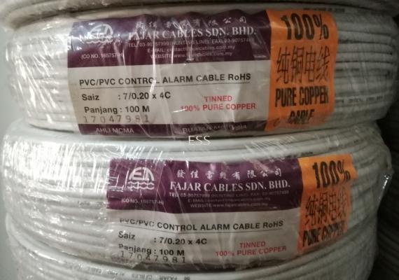 Fajar Tinned Pure Copper Alarm Cable 100m