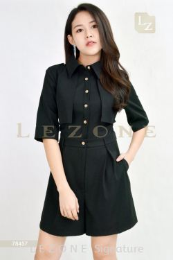 78457 FRONT BUTTON SLEEVE ROMPER
