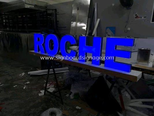 ROCHE Stand Display 3D LED Channel Signage
