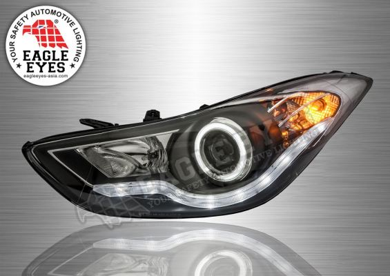 Elantra Projector LED Light Bar Head Lamp 11~16