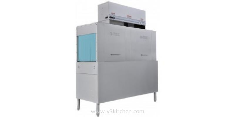 Double Tank Conveyor Dish Washer with Built In 36kW Booster Heater