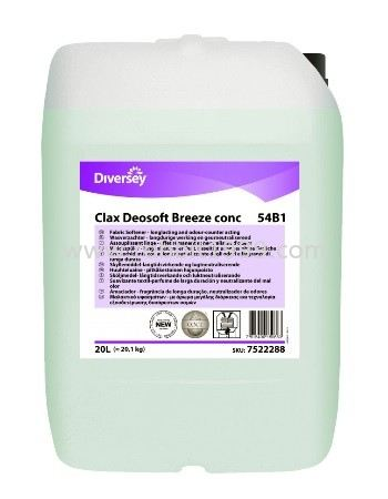 DIVERSEY CLAX DEOSOFT BREEZE CONC 54B1 LAUNDRY CARE DIVERSEY CLEANING CHEMICALS