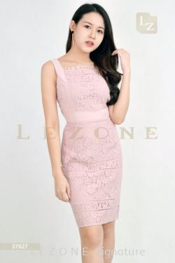 27627 LACE SLEEVELESS DRESS【BUY 2 FREE 3】