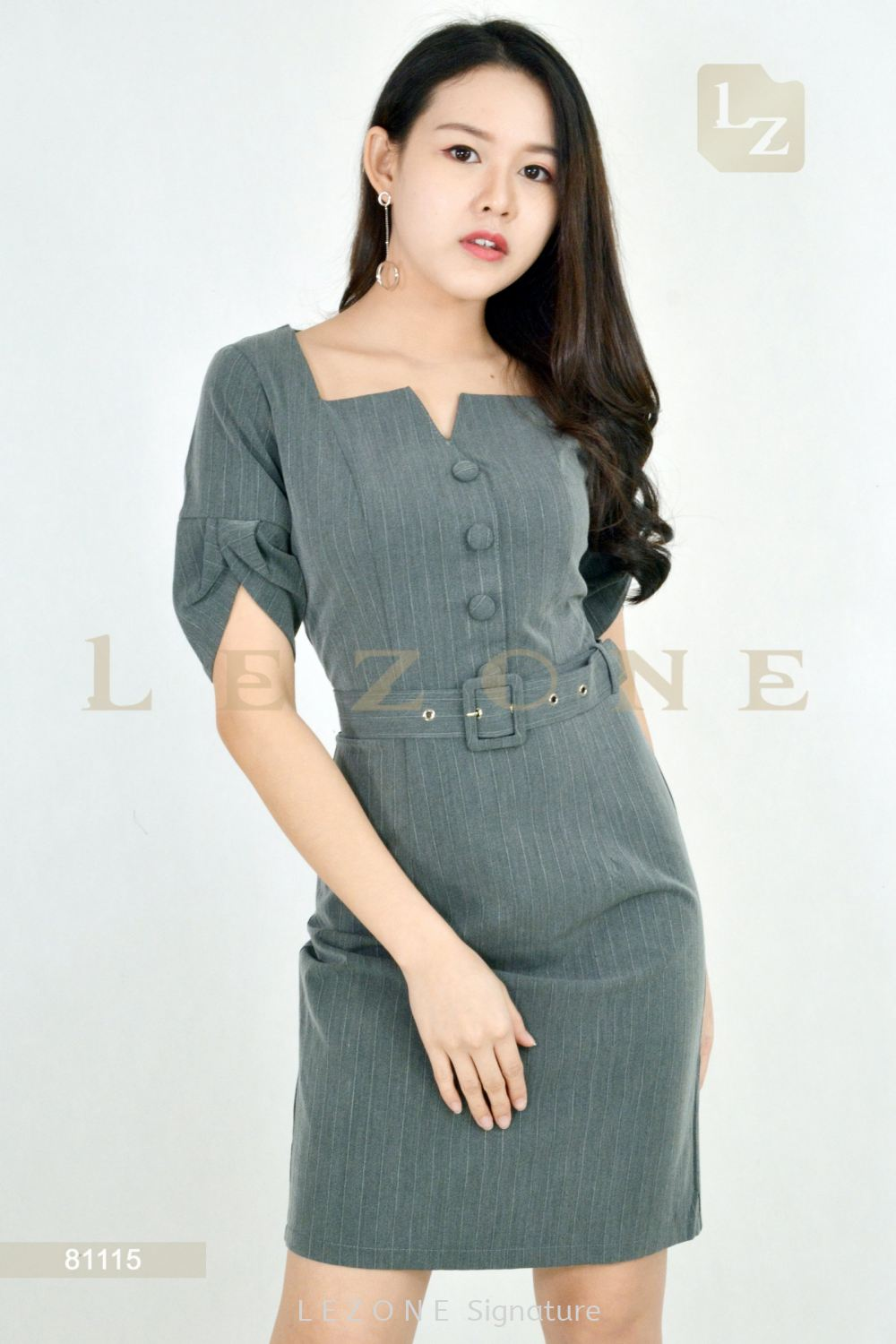 81115 PLUS SIZE EMBOSS STRIPED DRESS¡¾MEMBER SALE 45% NON-MEMBER SALE 35%¡¿ M E M B E R S A L E Selangor, Kuala Lumpur (KL), Malaysia, Serdang, Puchong, Cheras Supplier, Suppliers, Supply, Supplies | LE ZONE Signature