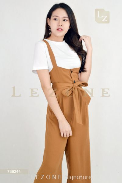 739344 2 PCS BUTTON JUMPSUIT