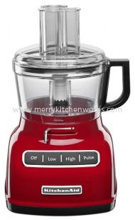 KitchenAid KFP0722ER 7-Cup Food Processor with Exact Slice System - Empire Red