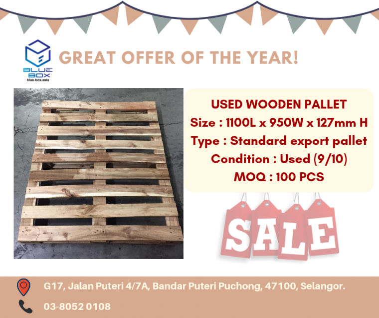 USED WOODEN PALLET OFFER!!!