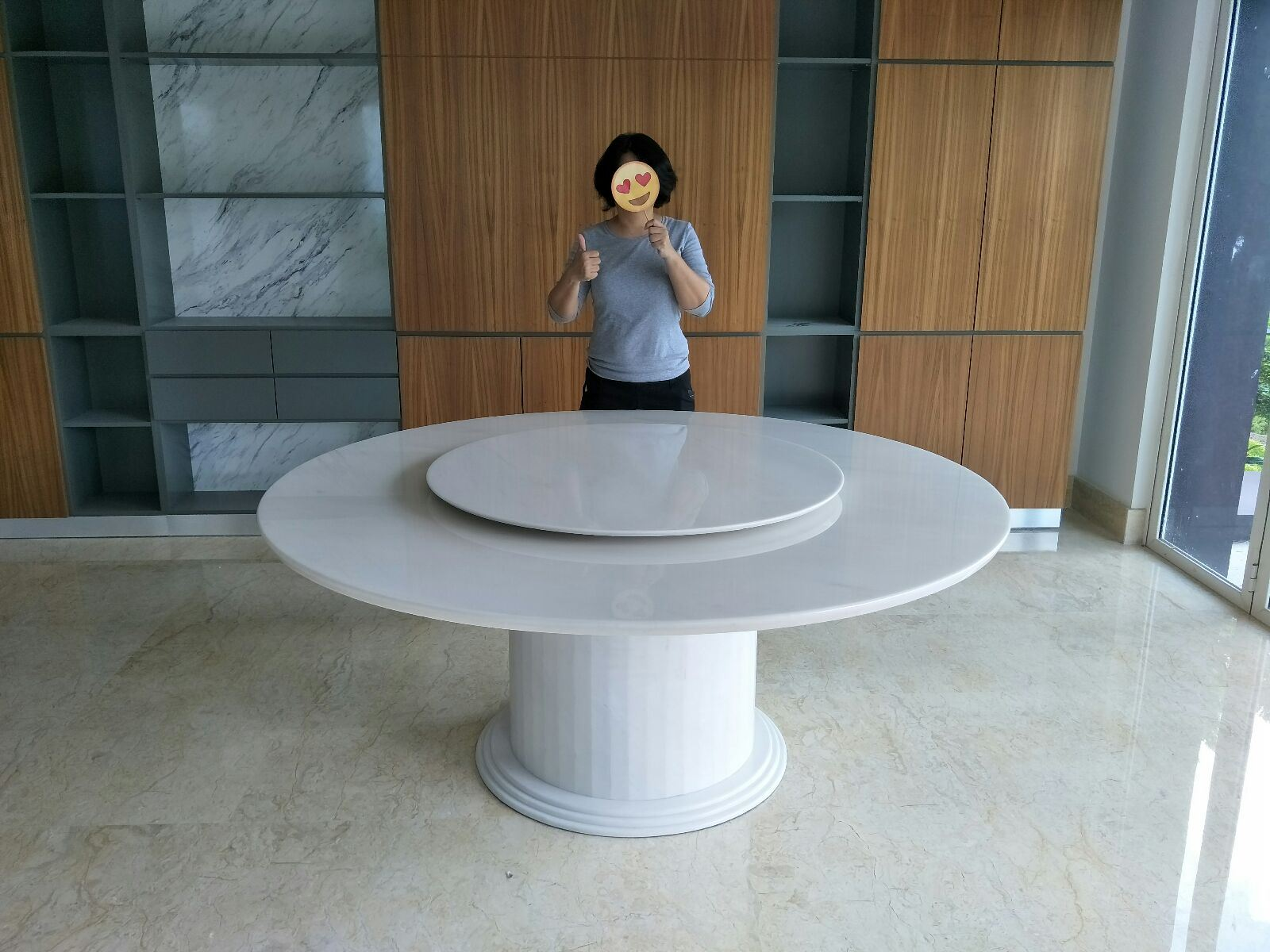 Marble Dining Table From Greece - Sivec White Marble