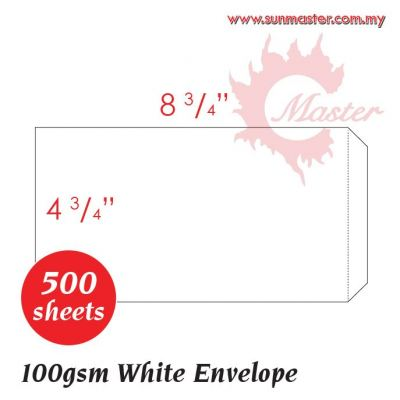 "4.25"" x 8.75"" White Envelope"