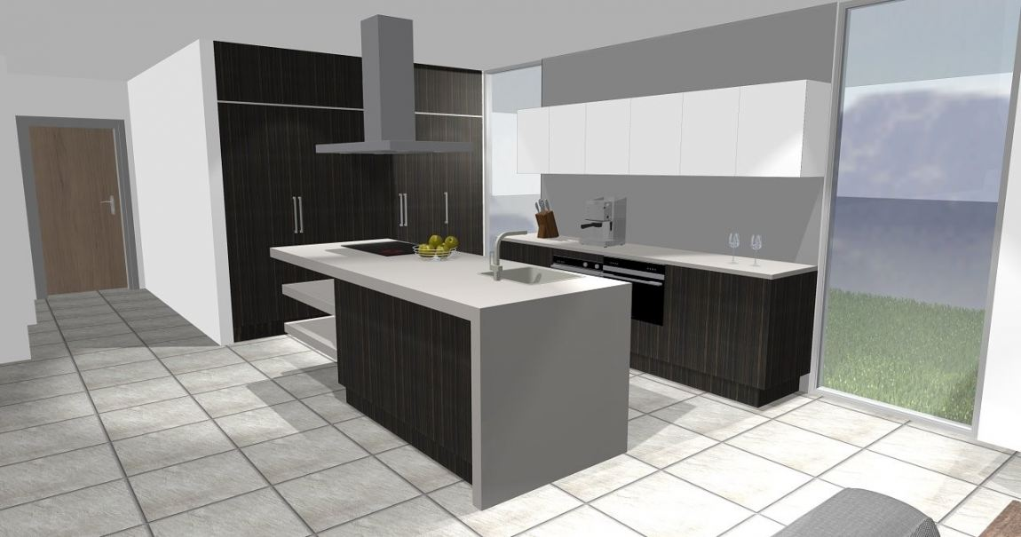 3D Interior Design Kitchen 3D Design Drawing