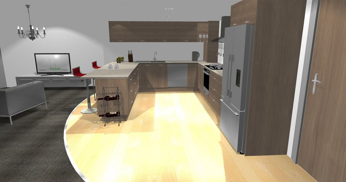 3D Kitchen Design Drawing Kitchen 3D Design Drawing