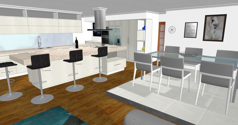 3D Kitchen Design Drawing