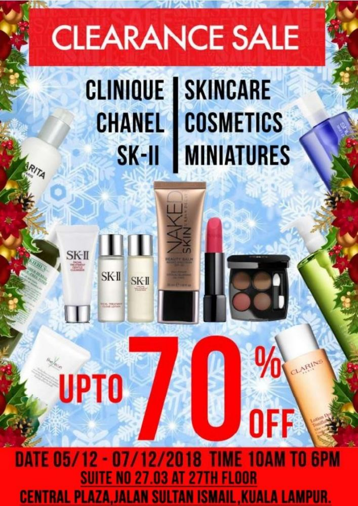 Clearance Sale from 5th-7th Dec 2018