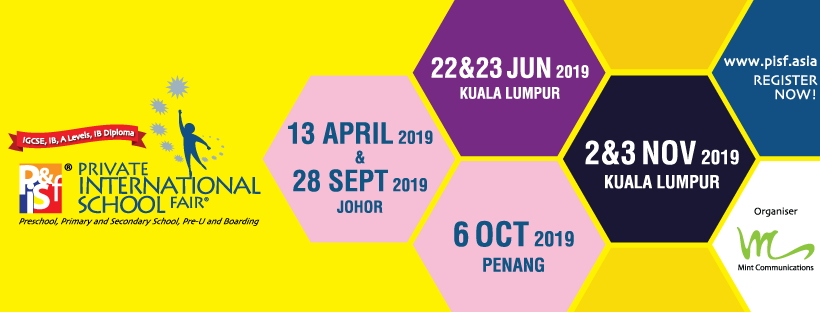 8th Private & International School Fair KL Jun 2019 March 2019 Year 2019 Past Listing