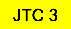 Number Plate JTC3 VVIP Plate