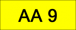 Number Plate AA9 Superb Classic Plate