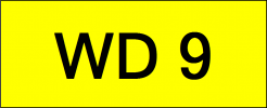 Number Plate WD9 Superb Classic Plate