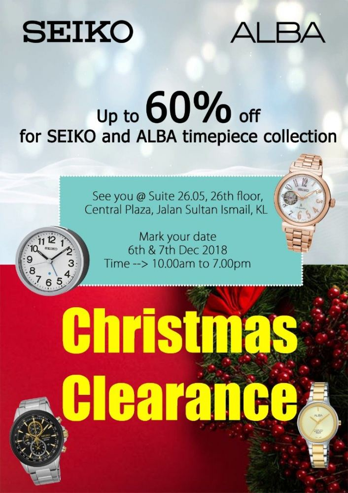 Hurry Up Visit Christmas Sales - 6th to 7th December 2018
