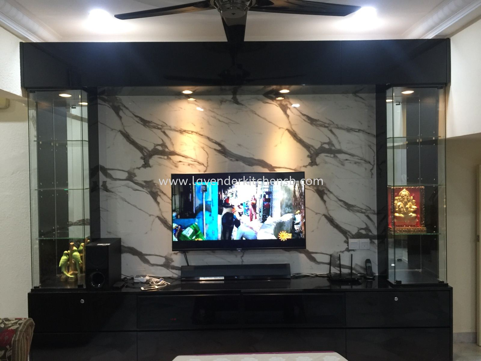 Tv Cabinet  With Marble Effects