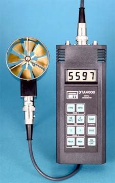 DTA4000 - Anemometer-Thermometer with Datalogger