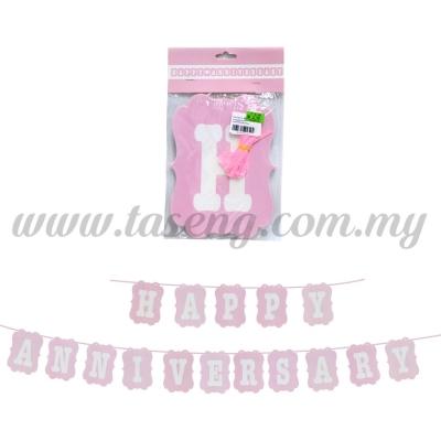 Banner Happy Anniversary - Pink (P-BN4-WD1P)