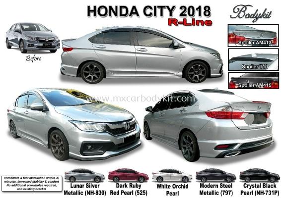 HONDA CITY 2017 R LINE BODYKIT WITH SPOILER
