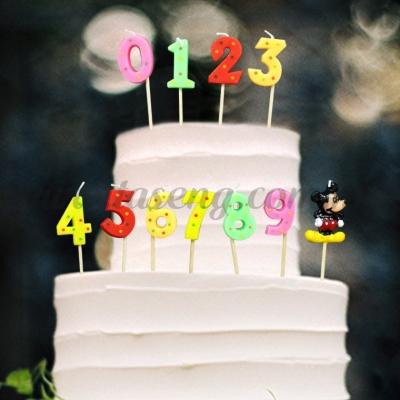 Number Set Candle (CDL-NB-MK)