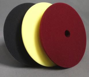 CARGO SPONGE PAD MAROON CUTTING / YELLOW POLISH / BLACK FINISH 150MM STICK SURFACE 125MM