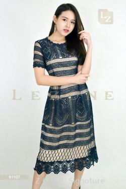 81107 LACE MIDI DRESS【Online Exclusive Promo 41% OFF】