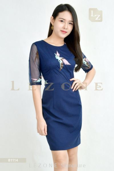 81114 MESH EMBROIDERED DRESS��25% OFF��