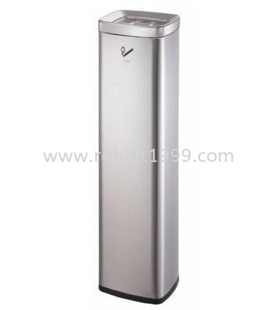 ASHTRAY BIN - 6lt STAINLESS STEEL ASHTRAY BIN