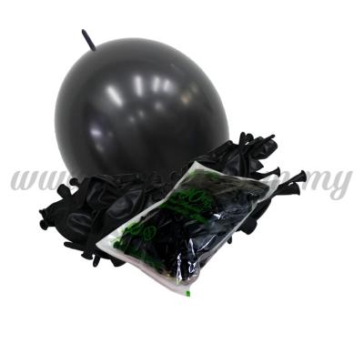 12inch Standard Link Balloons - Black 100pcs (B-12SRL-S8)
