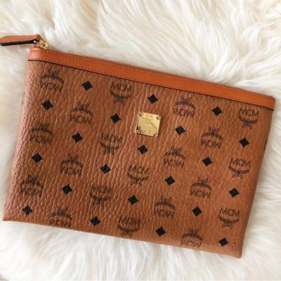(SOLD) MCM Classic Clutch in Brown (Unisex)