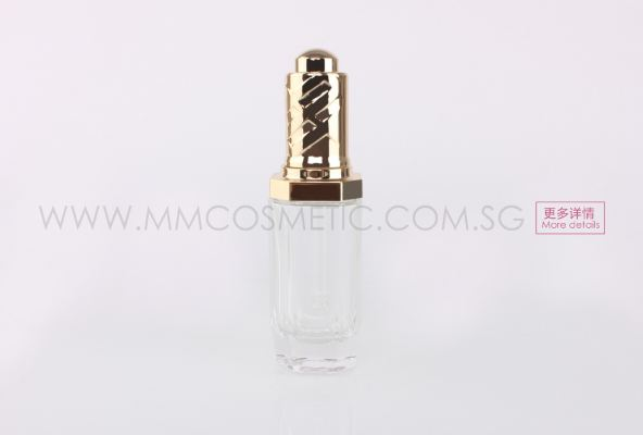 Diamond Glass Dropper Bottle