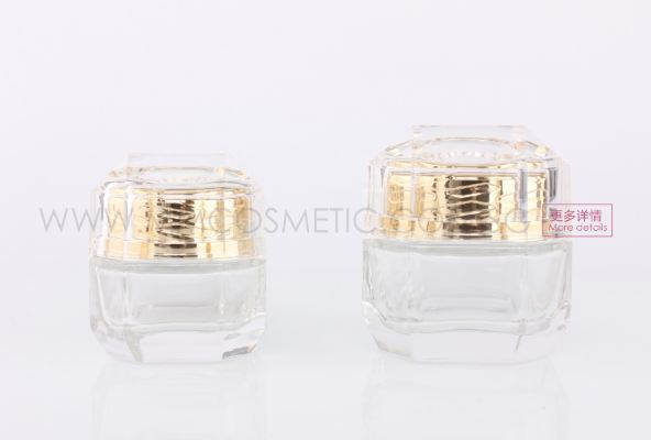 Diamond Glass Pump Container