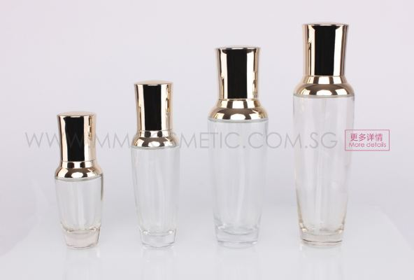 Glass Pump Bottle-Gold