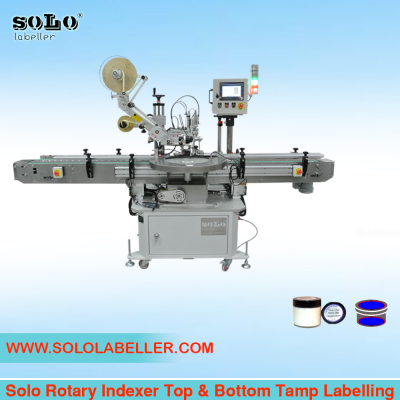 Rotary Indexer Top & Bottom Tamp Labelling Machine (Customized Machine)