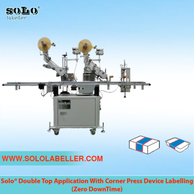 Double Top Applicator With Corner Press Device Labelling Machine (Customized Machine)