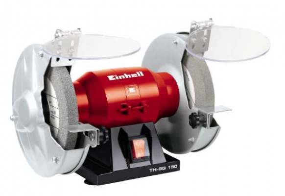 "EINHELL 6"" BENCH GRINDER - 150W 230V  (WHEEL SIZE:150X20X32MM) (GERMANY), BG150R"