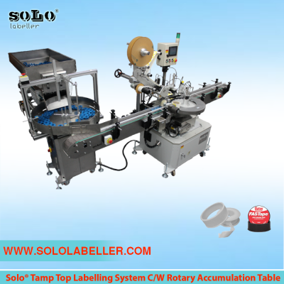 Top Tamp Labelling System C/W Rotary Accumulation Table (Customized Machine)