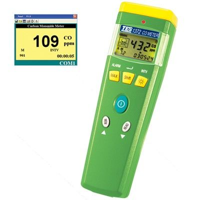 TES-1372/TES-1372R CO Meter Gas Detector Climatic / Environment Inspection