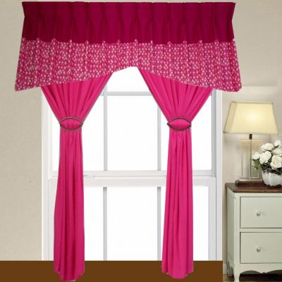 1 SET CURTAIN + SCALOP (1PCS SCALOP + 2 PCS FULL CURTAIN) (SET  38)