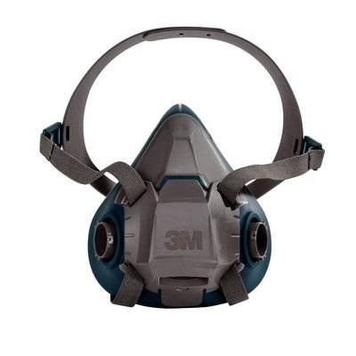 3M™ Rugged Comfort Quick Latch Half Facepiece Reusable Respirator 6502QL/49490, Medium, 10 EA/Case