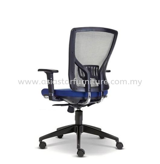 SANIE MEDIUM BACK OFFICE CHAIR WITH ADJUSTABLE ARMREST AND NYLON BASE-mesh office chair dataran prima nzx | mesh office chair taman sea | mesh office chair semenyih
