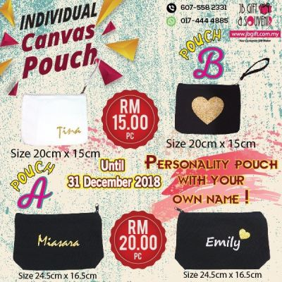 2018 Christmas Promo - Canvas Pouch With Individual Name