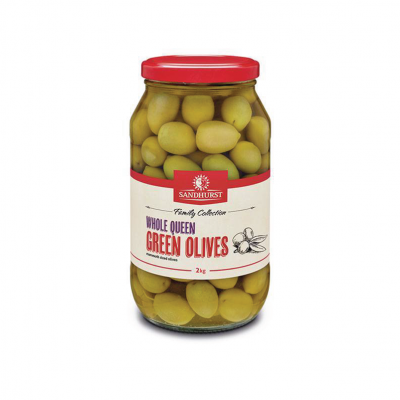 Whole Queen Green Olives 2kg