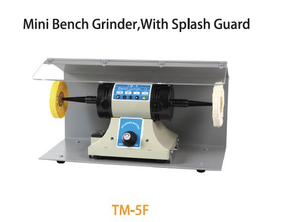 TMT 75MM MINI BENCH BUFFER WITH SPLASH GUARD 400W 230V 50HZ 10,000RPM, TM-5F