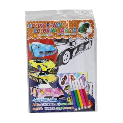 Colour Pencil Colouring Game - Cartoon Car (T29-DB-026)