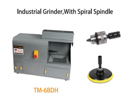 TMT MINI INDUSTRIAL GRINDER 400W 230V 50HZ WITH SPIRAL SPINDLE DIA 14MM, 3000RPM, TM-6BDH
