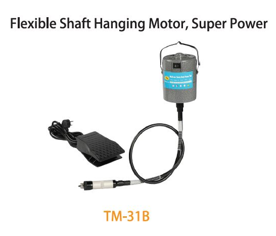 TMT FLEXIBLE SHAFT (92.5CM) HANGING MOTOR 120W 230V 50HZ20,000RPM  WITH TOOL & CASING SET, TM-31B